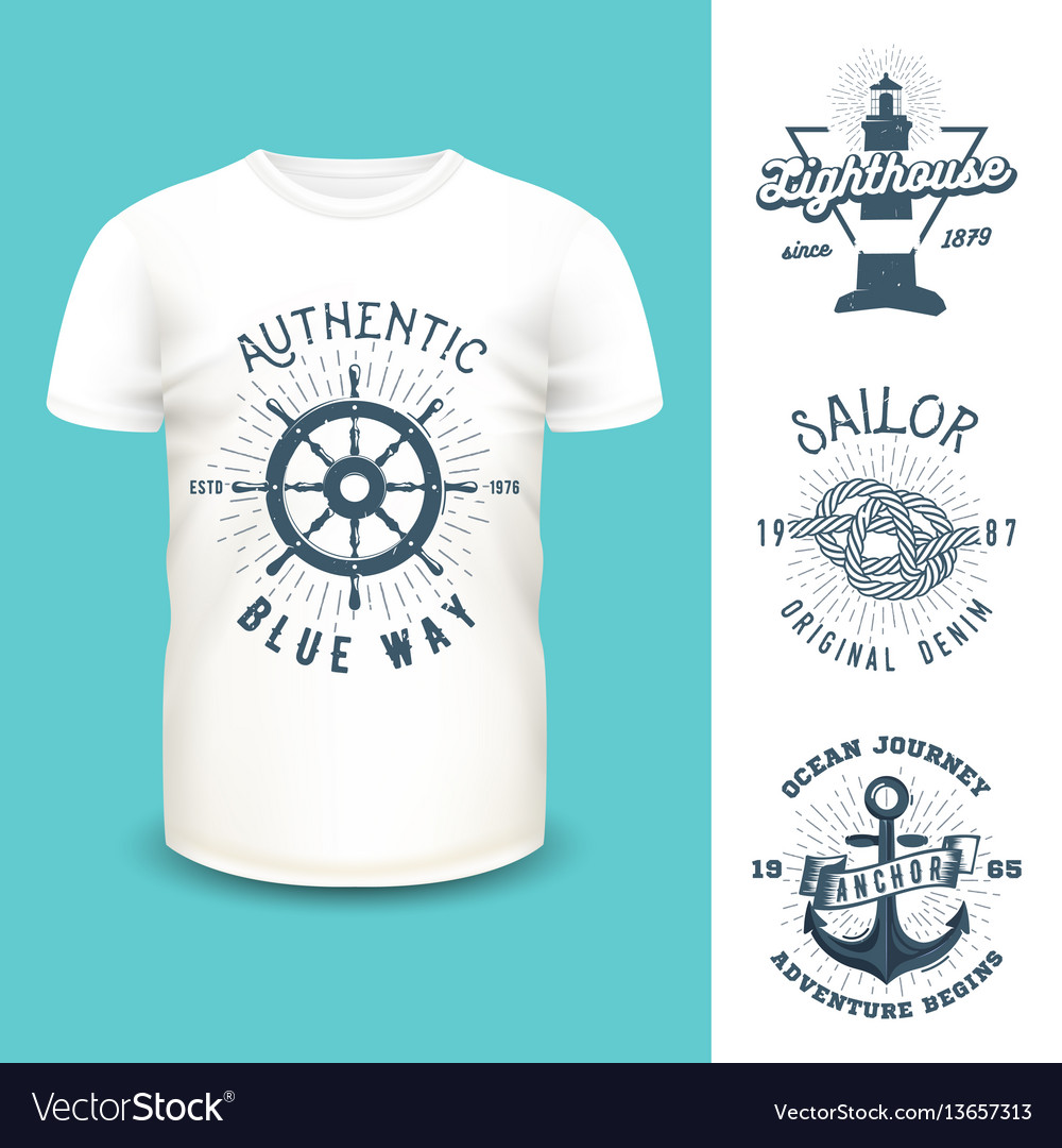 T-shirt mockup with clothing labels