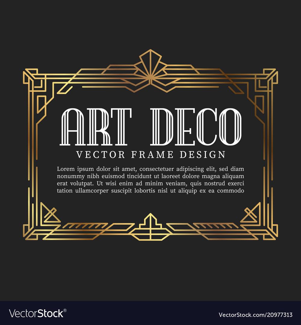Vintage frame art deco style