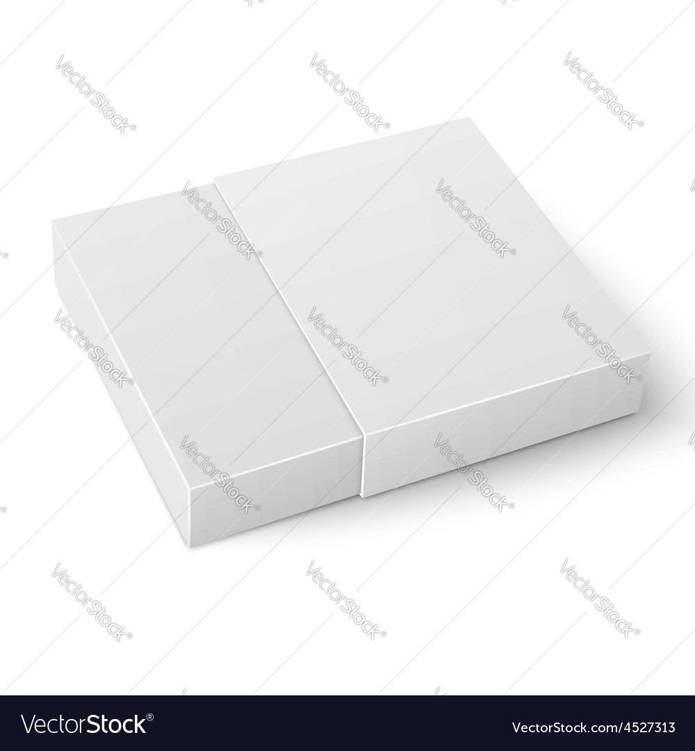 White sliding cardboard box template