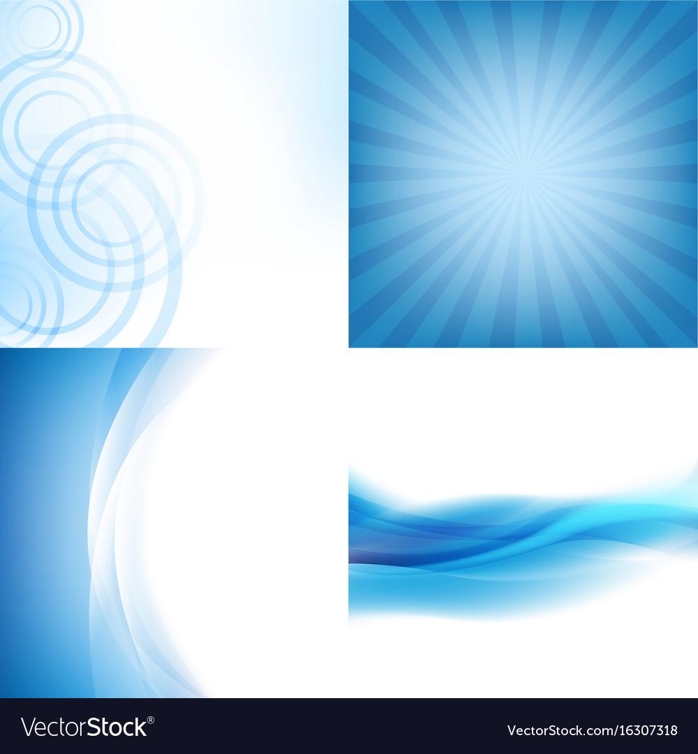 Blue backgrounds set vector image