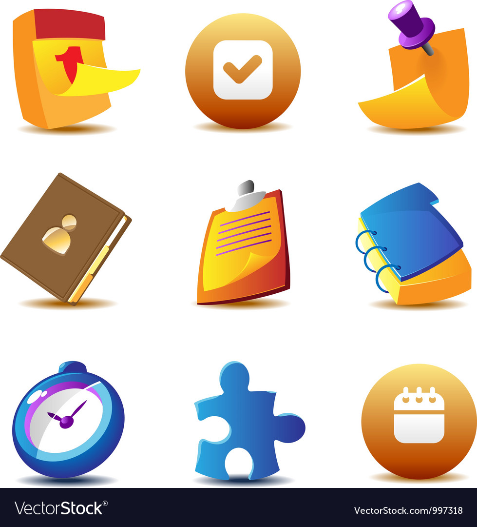 Business planning icons vector image