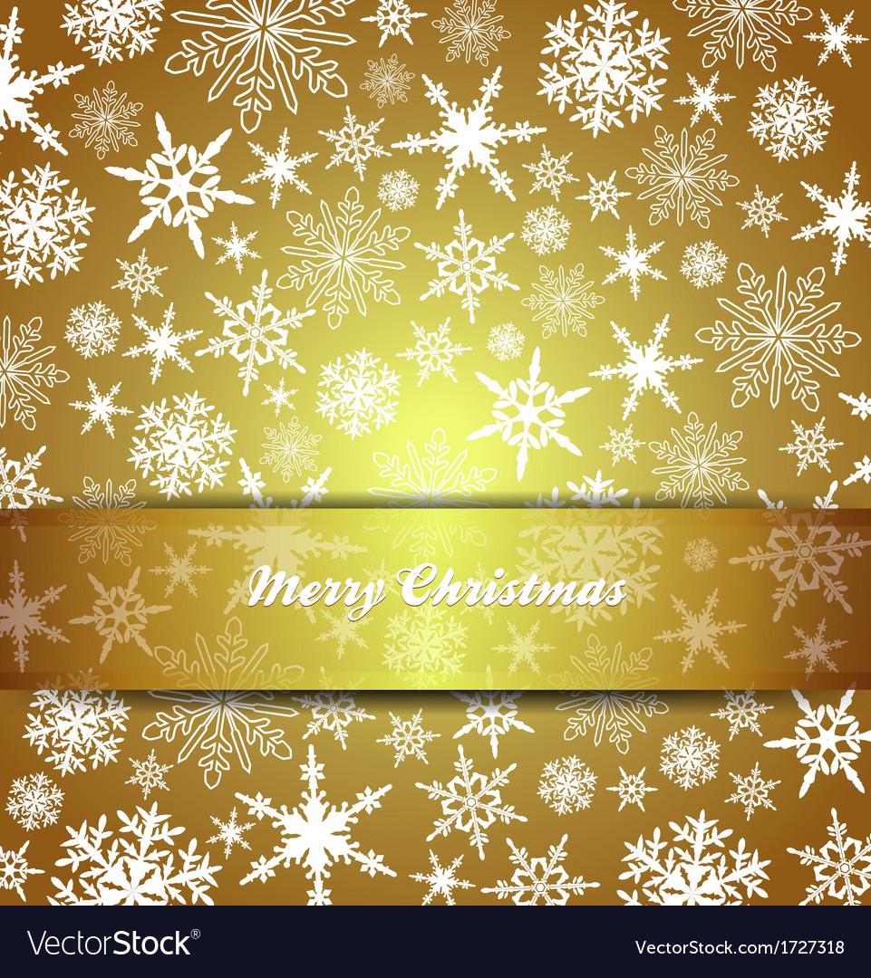 Christmas card snowflake gold invitation menu vector image stopboris Choice Image