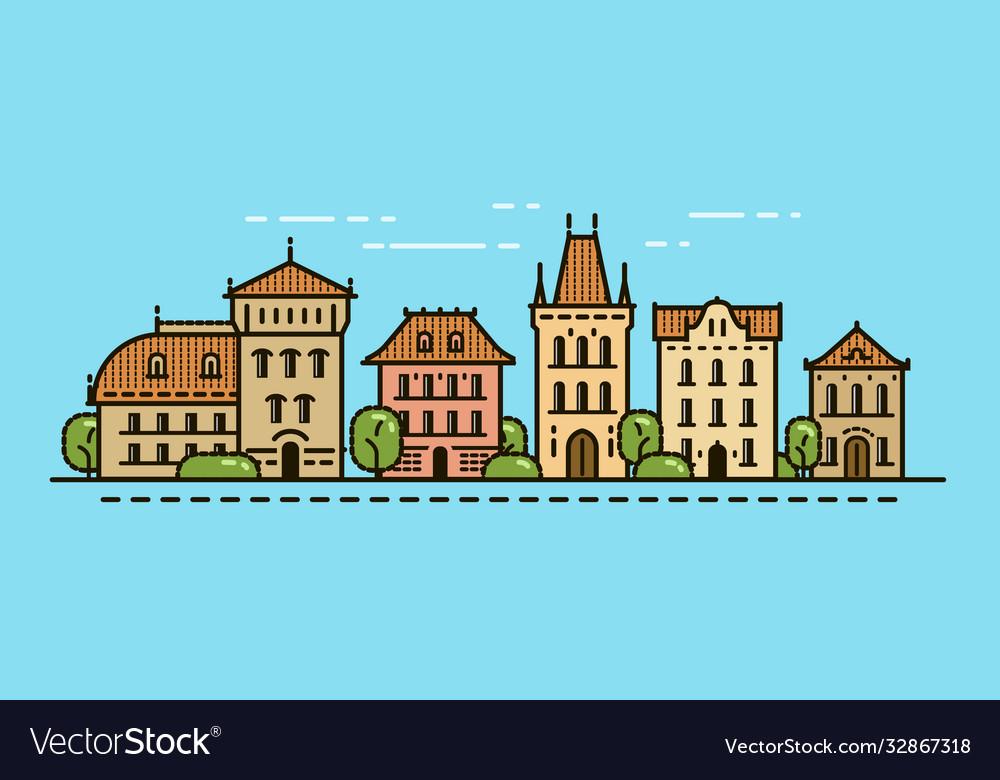 Cityscape urban landscape old city town concept