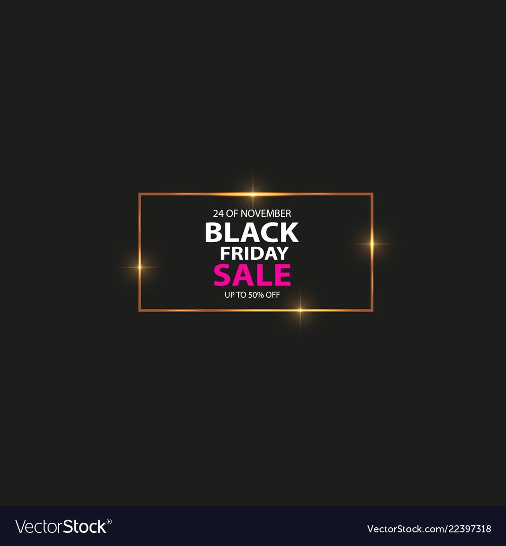 Glowing magic square frame black friday