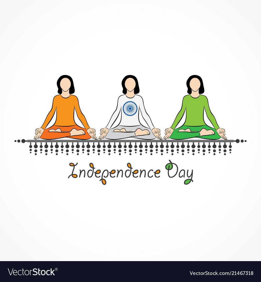 Indian independence day concept background with