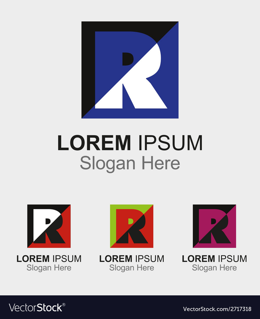Letter R logo design sample icon