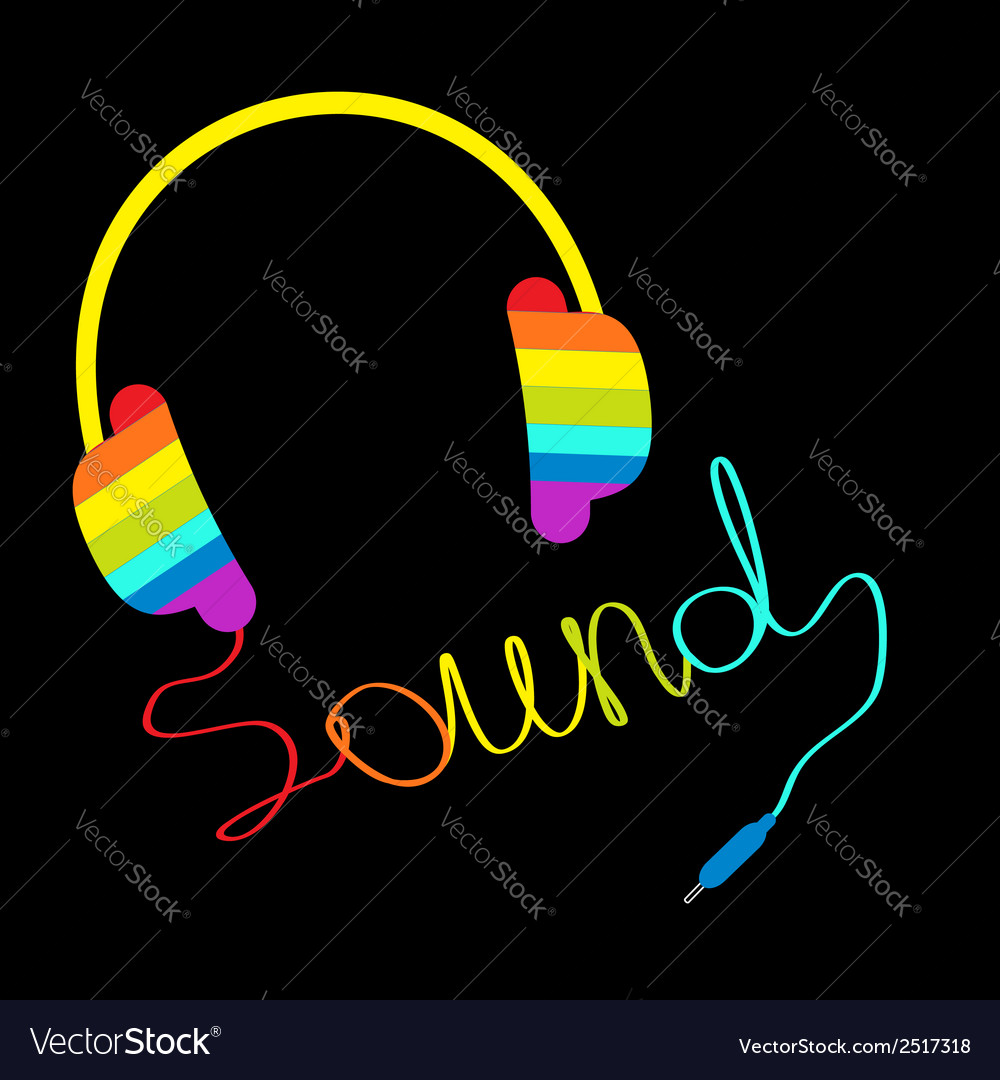 71bbf91f41c7f Rainbow headphones with cord word sound