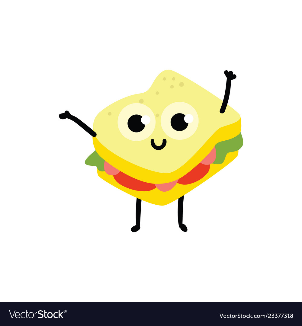Sandwich cartoon character