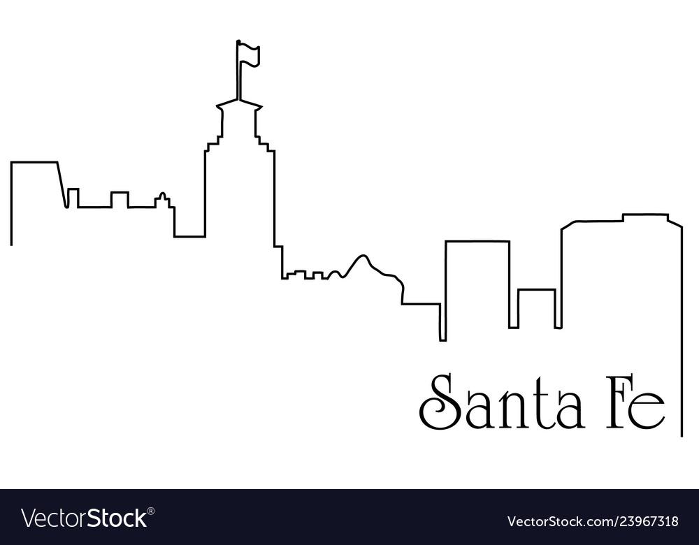 Santa fe city one line drawing