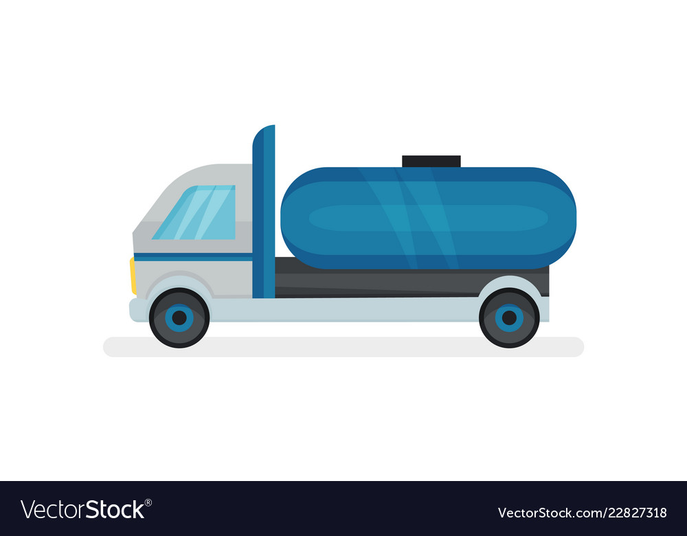 Truck with large blue water tank heavy machine