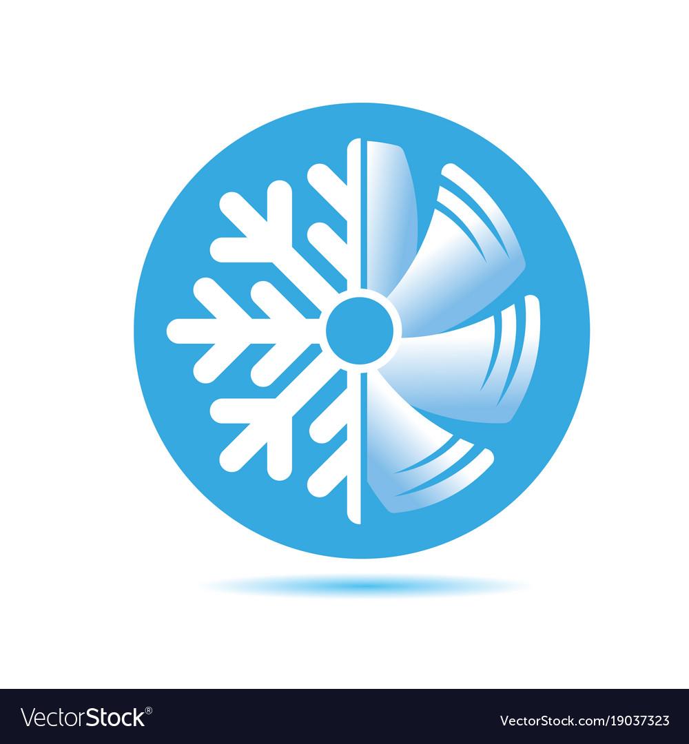 Air conditioner icon flat design