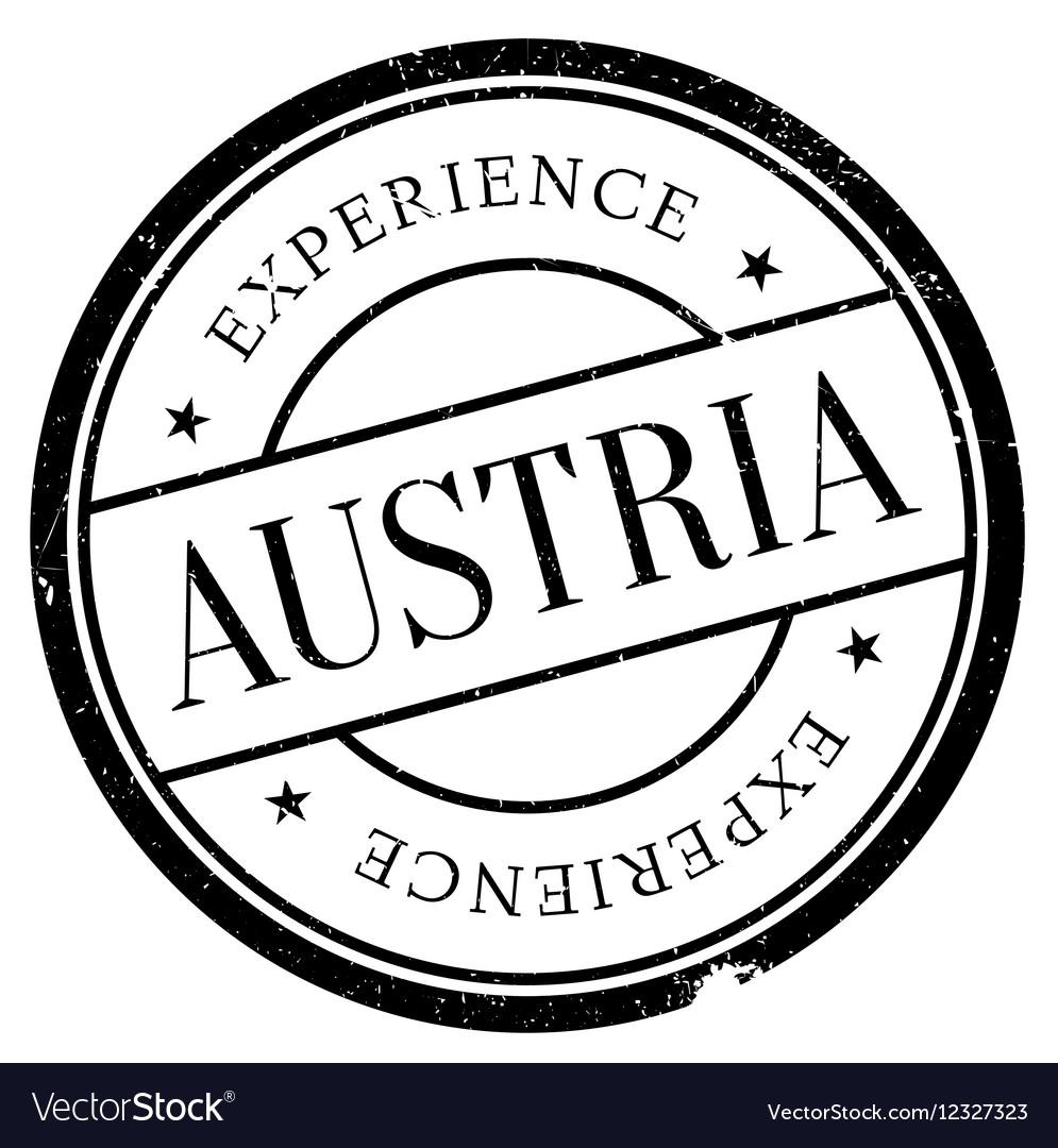 Austria Stamp Rubber Grunge Vector Image