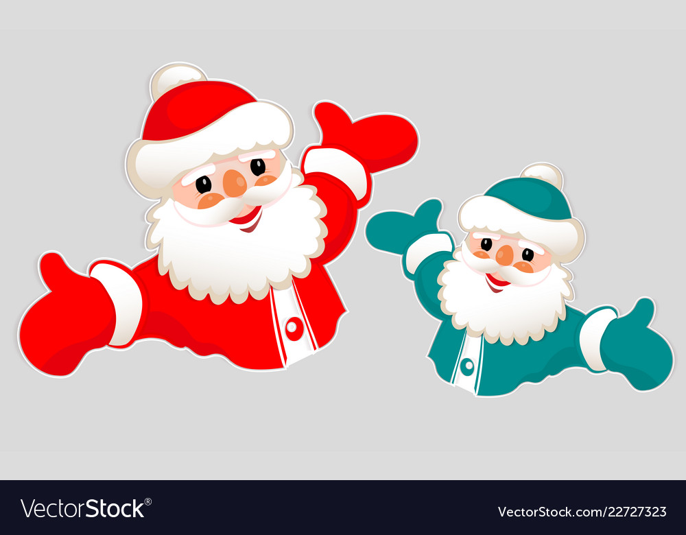 christmas drawing of a silhouette of santa claus vector image vectorstock
