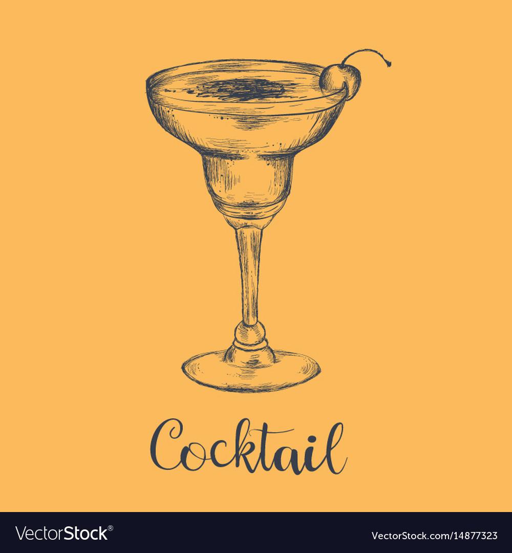 Cocktail sketch cherry sketch cocktail