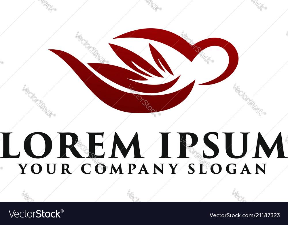 Coffe grean logo design concept template