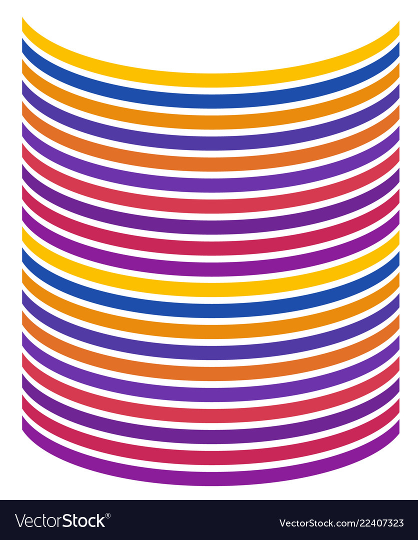 Curve line in color rainbow graphic