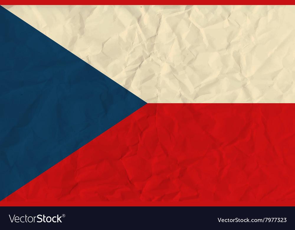 Czech Republic paper flag vector image