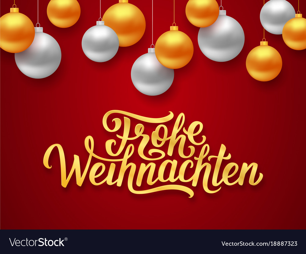 frohe weihnachten deutsch merry christmas card vector image. Black Bedroom Furniture Sets. Home Design Ideas