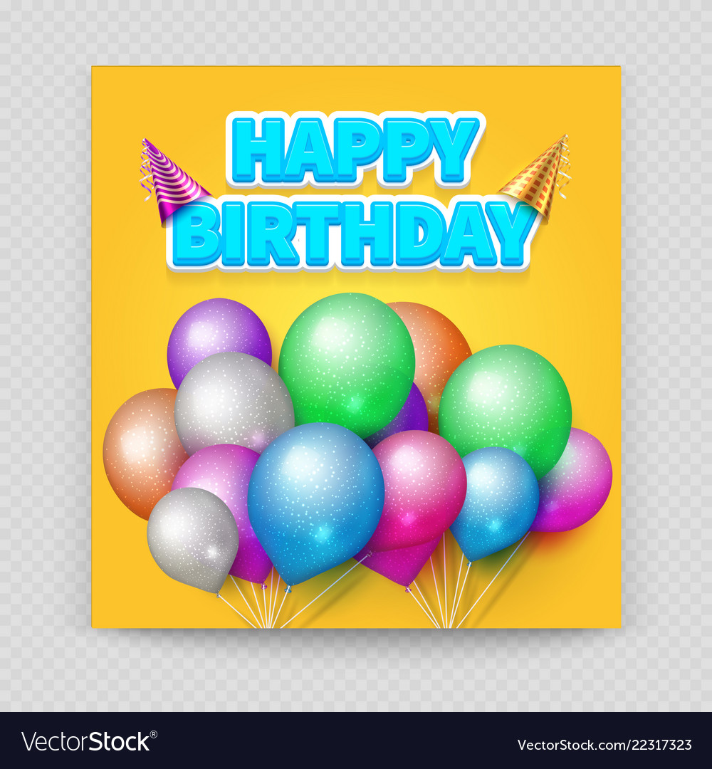 Happy birthday greeting card blank paper