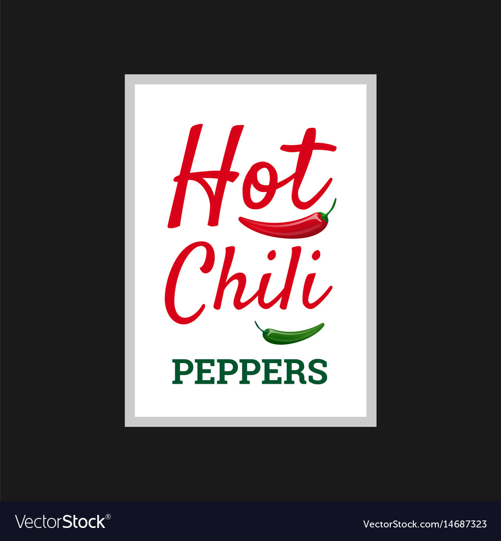 Hot Chili Peppers Poster Design Royalty Free Vector Image