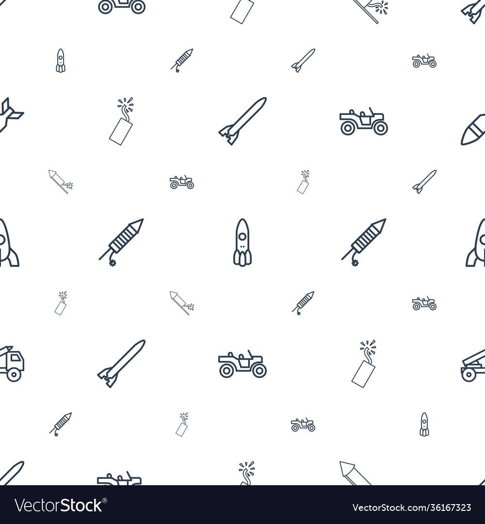 Rocket icons pattern seamless white background