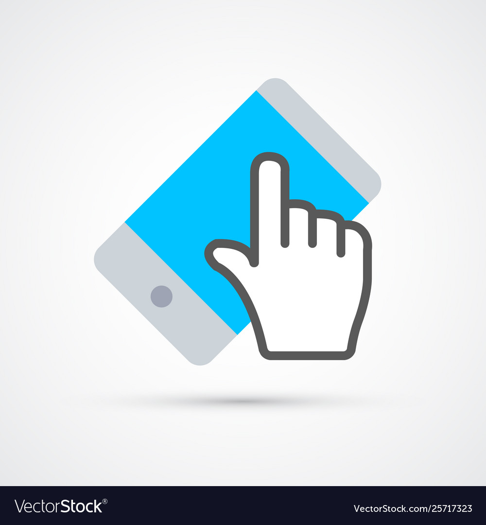 Touchscreen cellphone trendy social symbol trendy