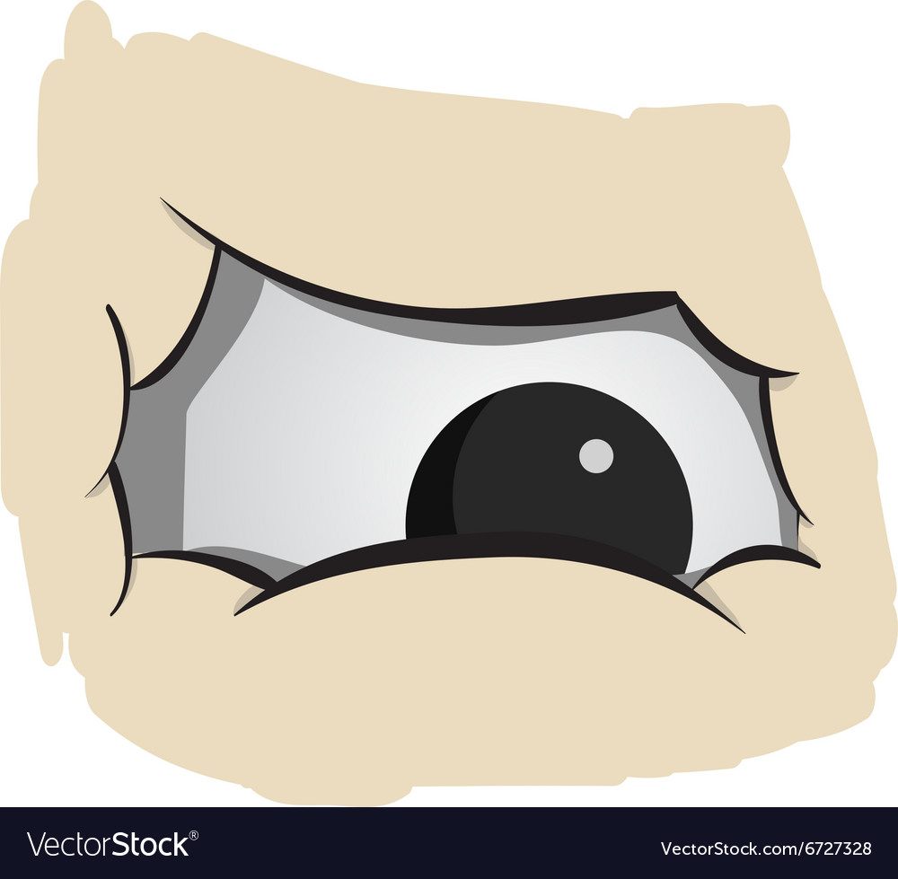 Angry fat eyes vector image