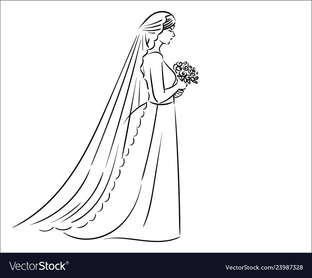 Concept of bride icon