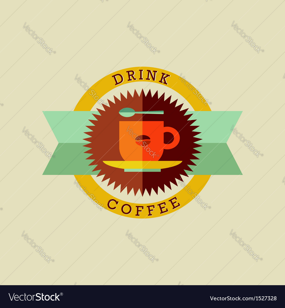 Drink coffee badge set
