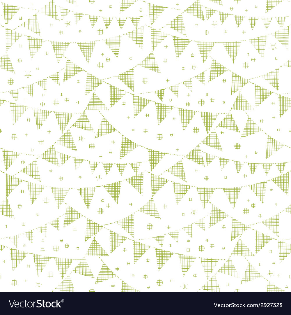 Green Textile Party Bunting Seamless Pattern