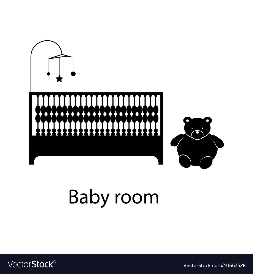 Home and hotel baby room interior with furniture
