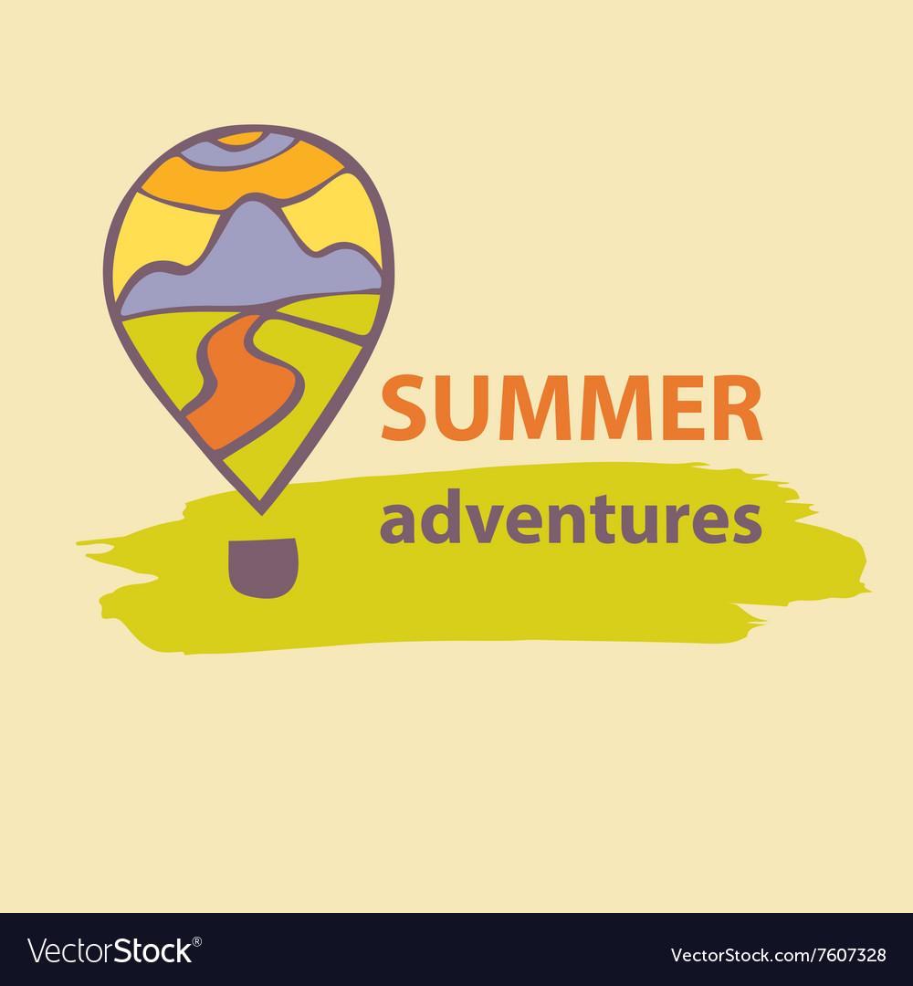 Logo travel company Summer Adventures vector image