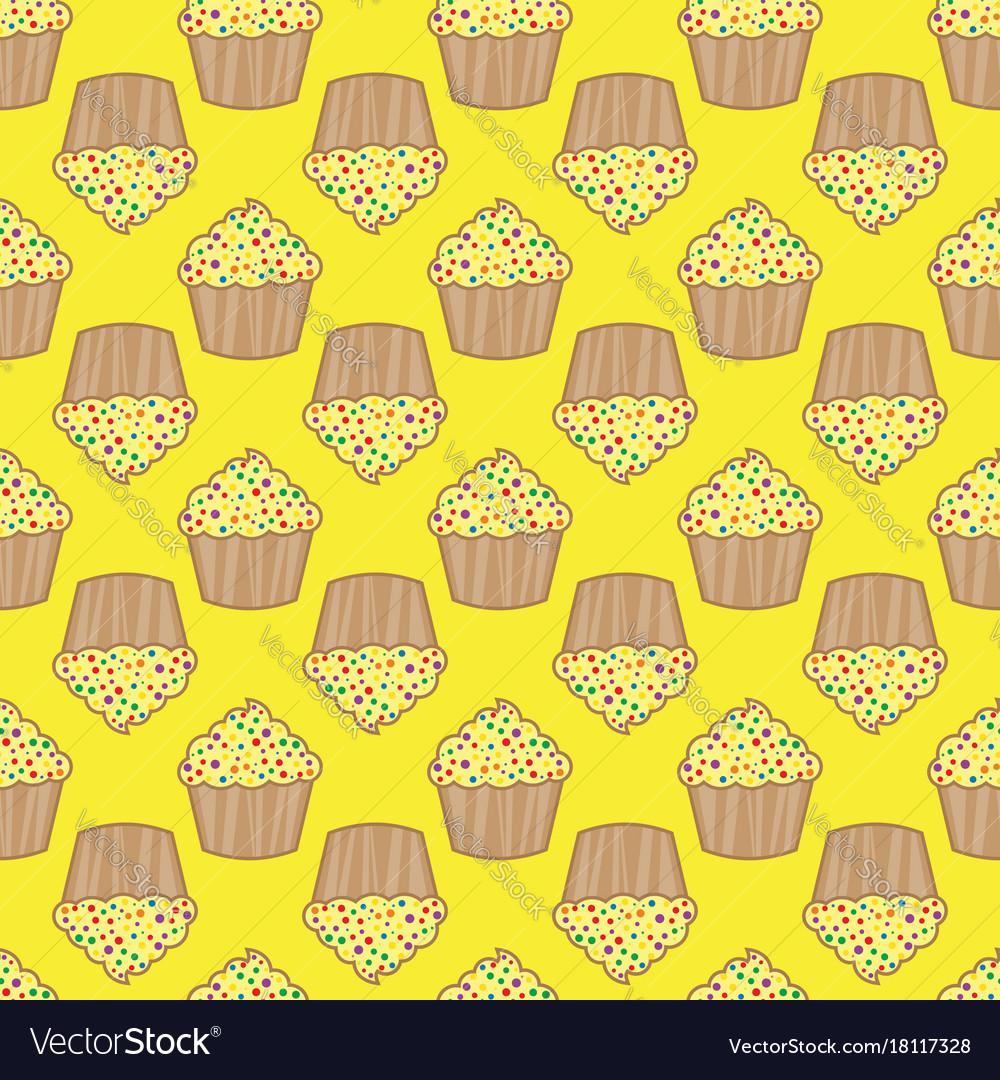 Orange lemon cream cake seamless pattern