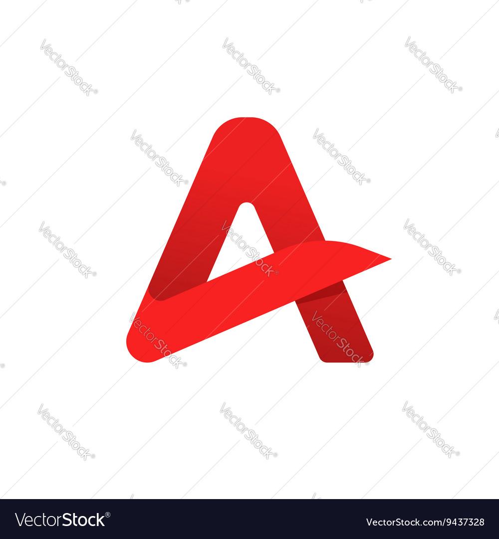 Red geometric gradient letter a logo symbol
