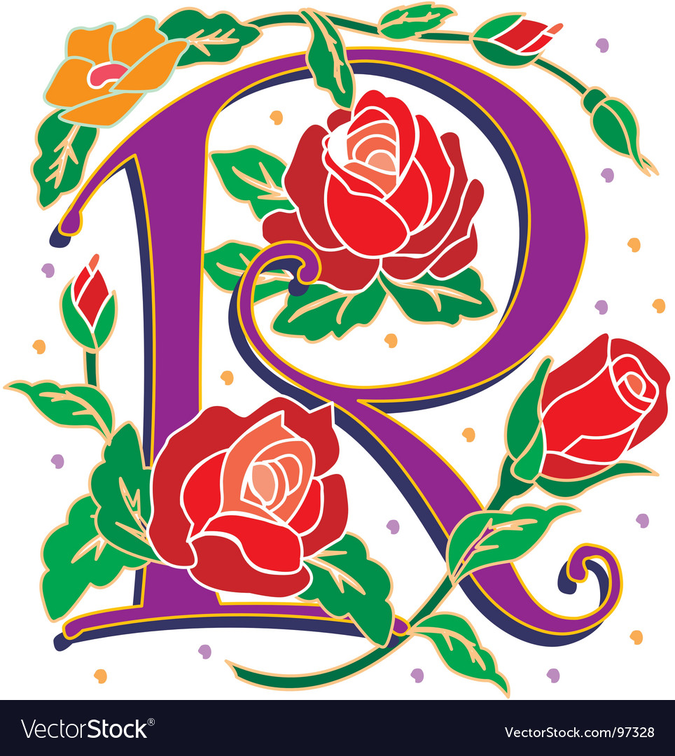 Rosette letter r royalty free vector image vectorstock rosette letter r vector image thecheapjerseys Image collections