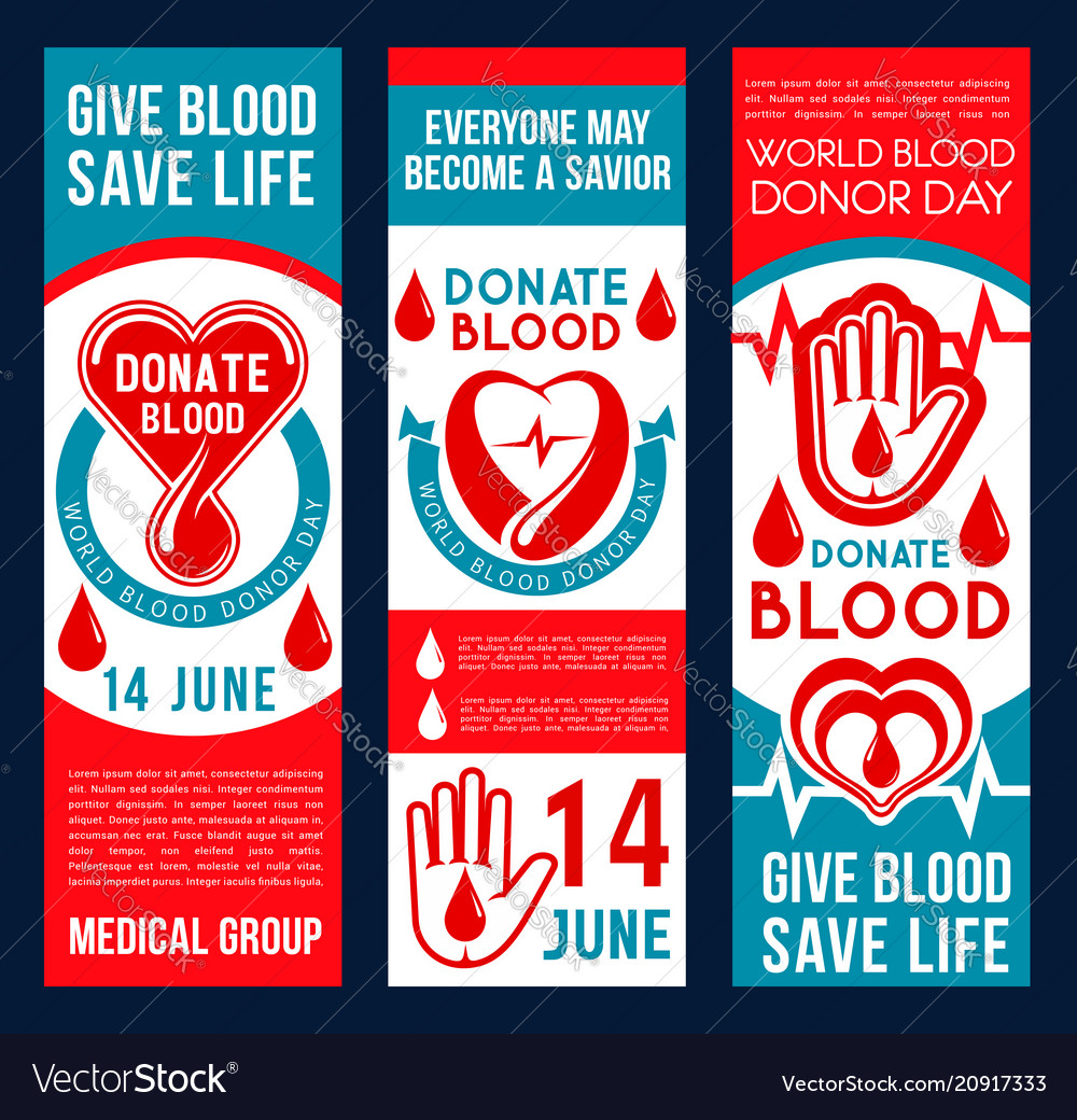 Blood donation banners