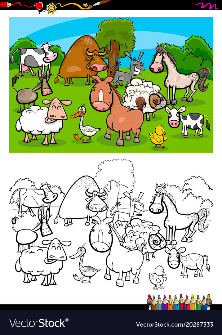 660 Coloring Book Farm Animals Free Best HD