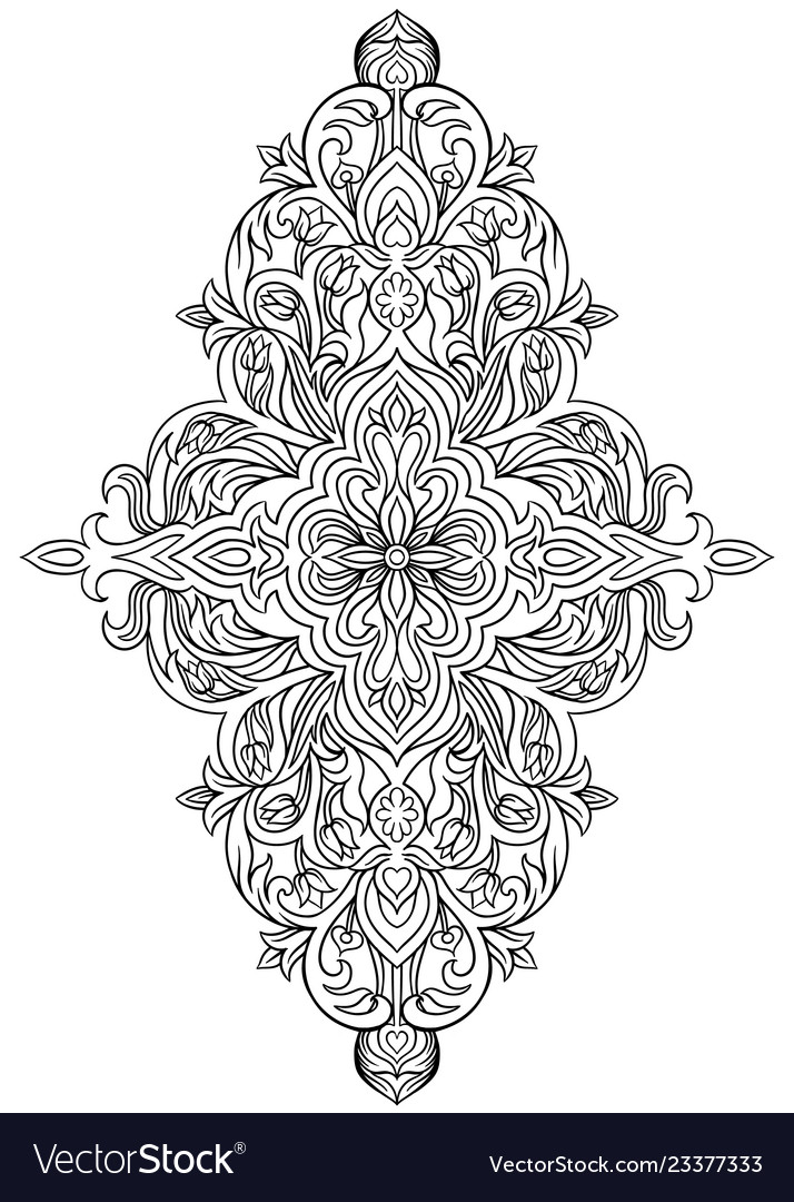 Drawing coloring book on a white background