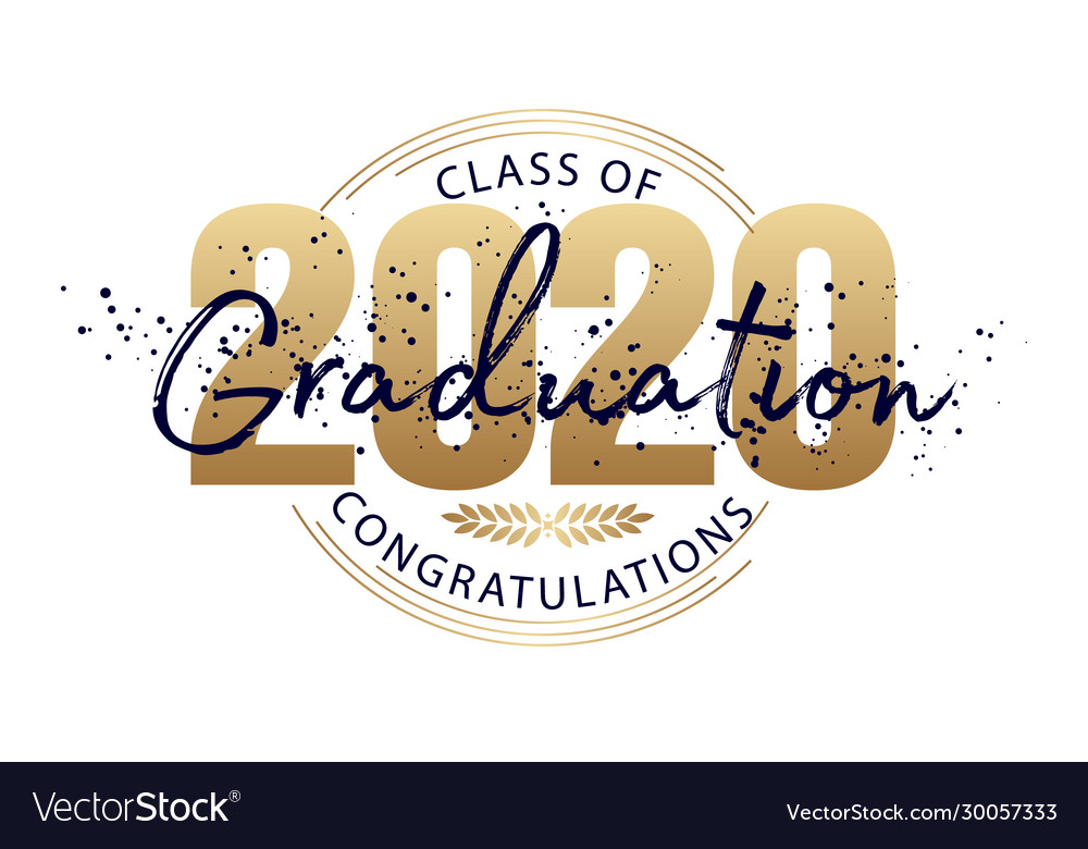 Graduation label text for graduation design