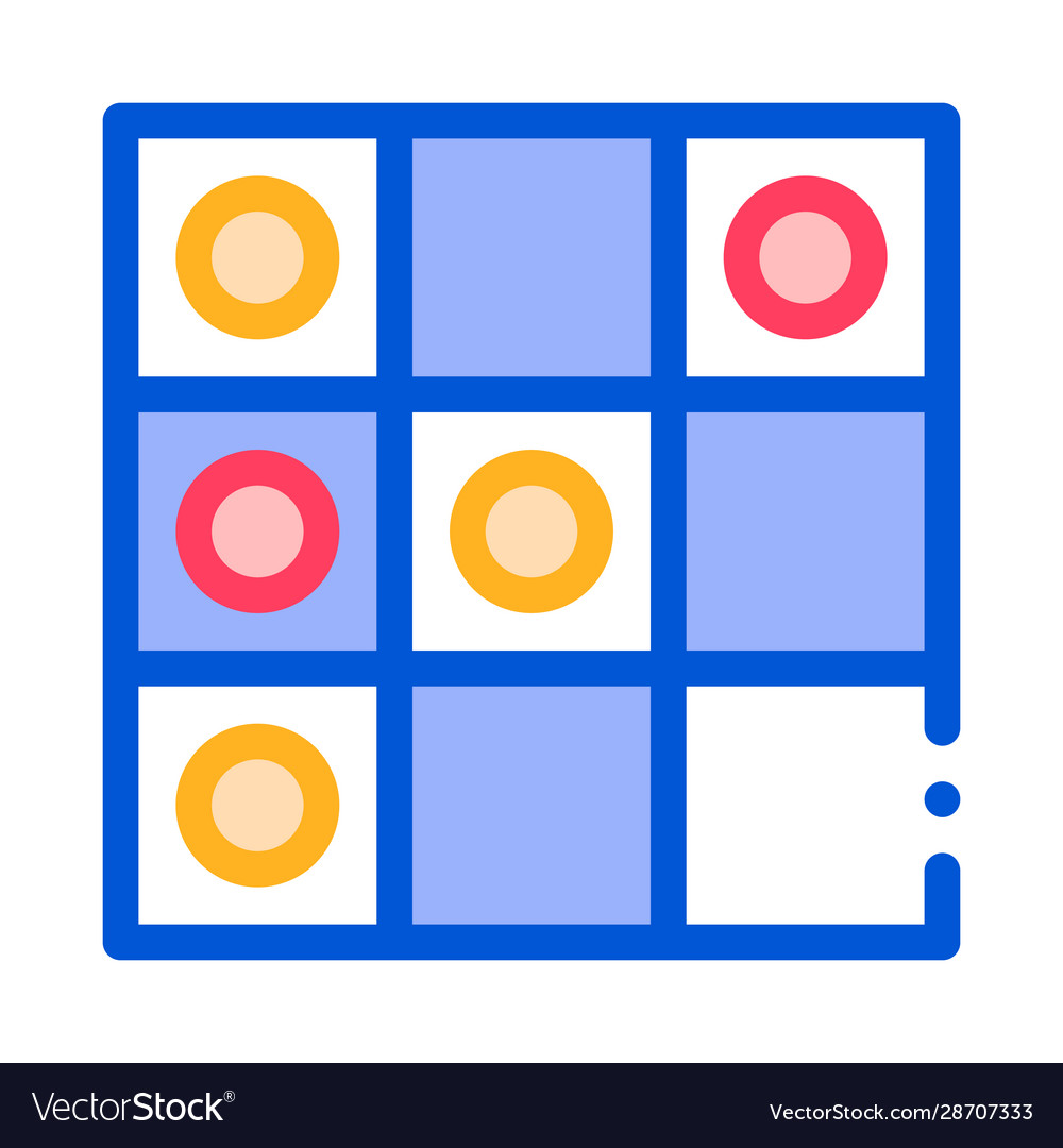 Interactive kids game draughts sign icon