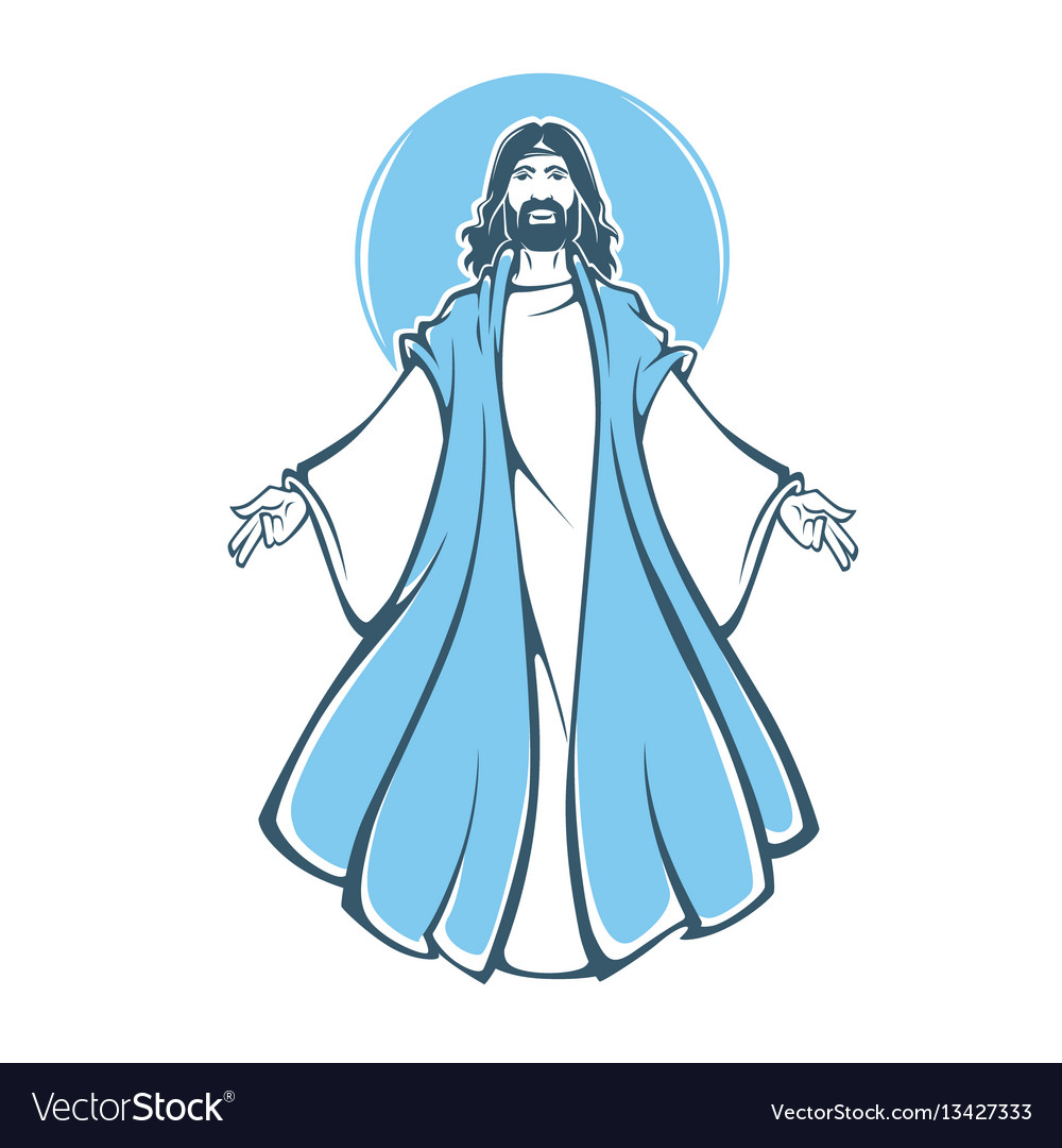 Jesus christ resurrection for your vector image