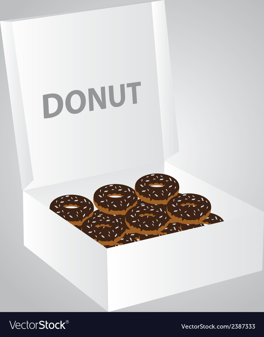 Paper box full of donuts eps10
