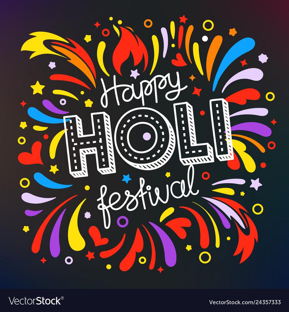 Party flyer frame template holi festival banner