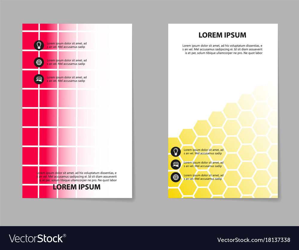 Abstract composition business card set box block Vector Image