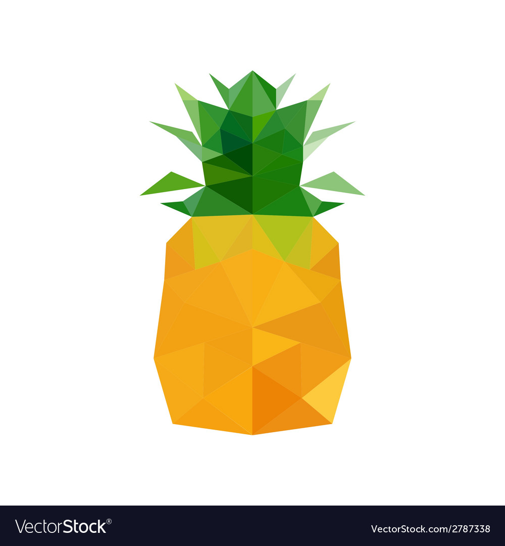 Abstract Origami Pineapple Royalty Free Vector Image