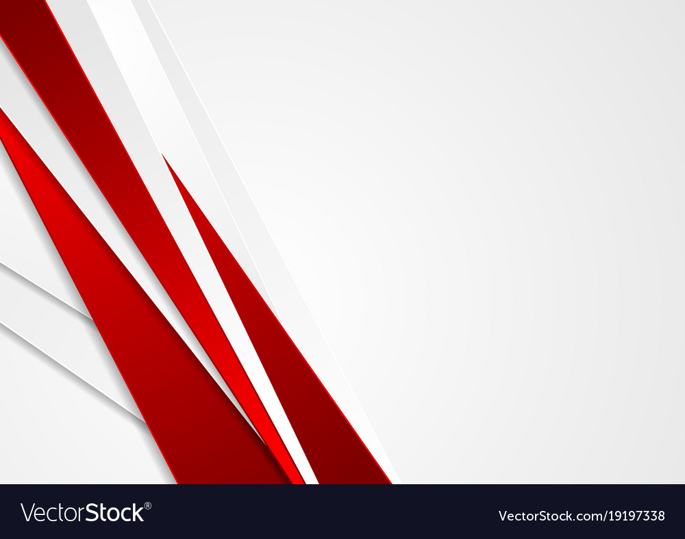 Abstract Red And Grey Stripes Corporate Background Vector Image