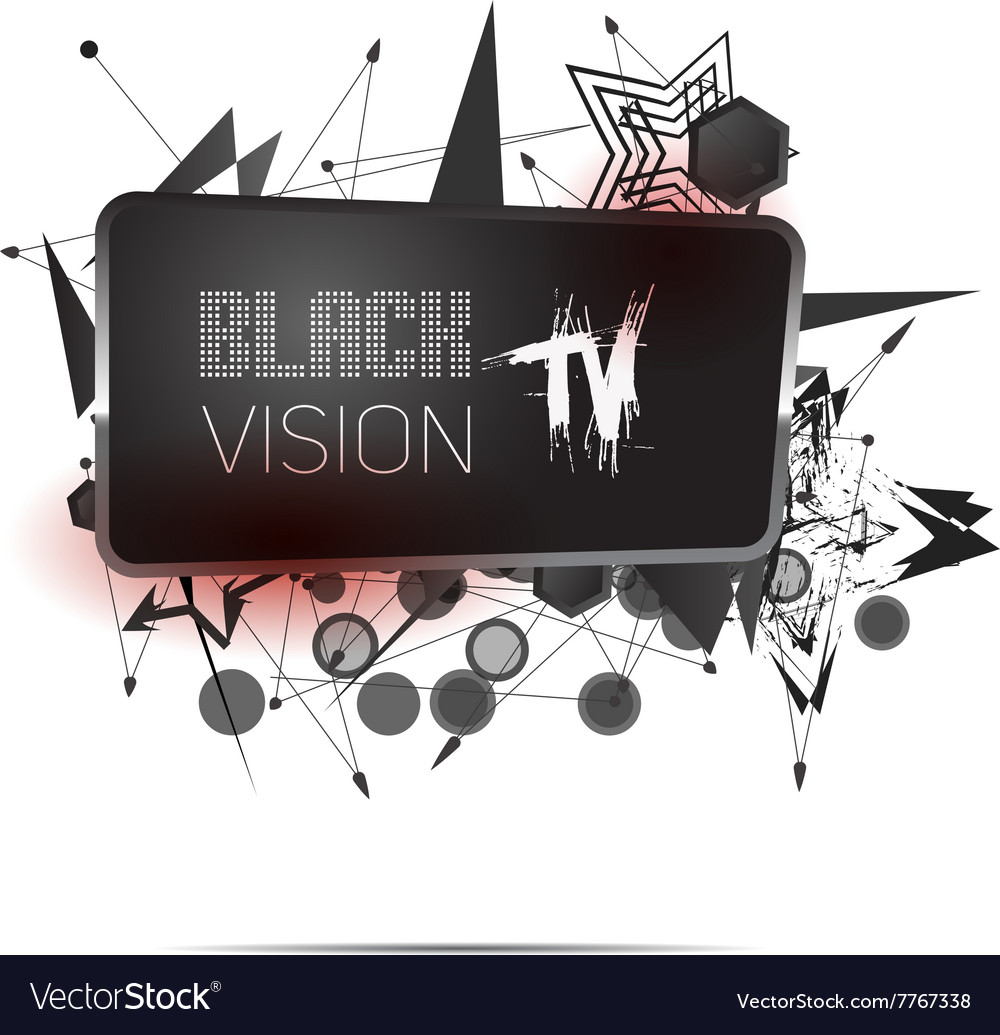 Abstract screen tv signs vector image
