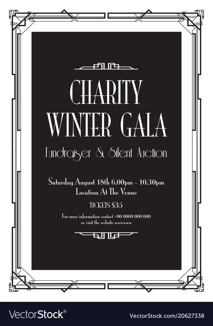 Charity winter gala background royalty free vector image charity winter gala background vector image stopboris Gallery