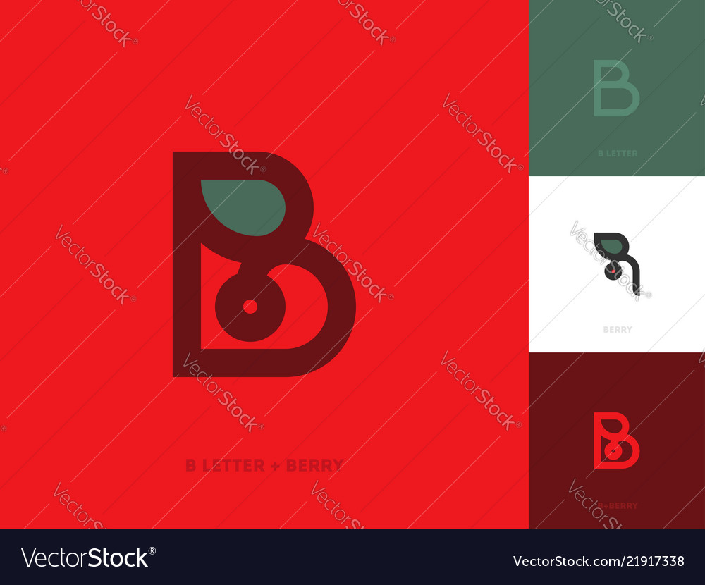 Elegant line style logo template with letter b