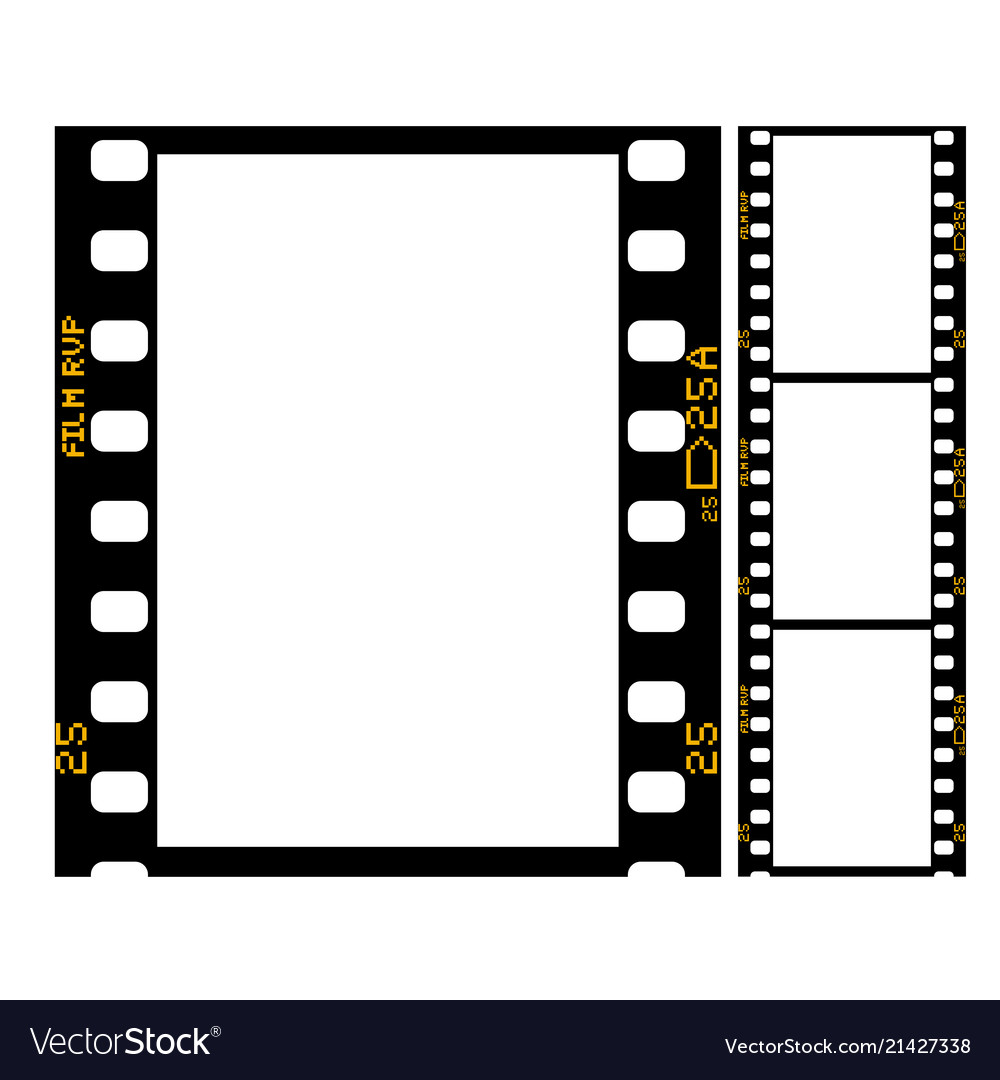 Film strip - frame of retro film for photograph Vector Image